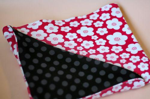 PY-Knits-Swaddle-Blanket-Pink-Flower-Folded
